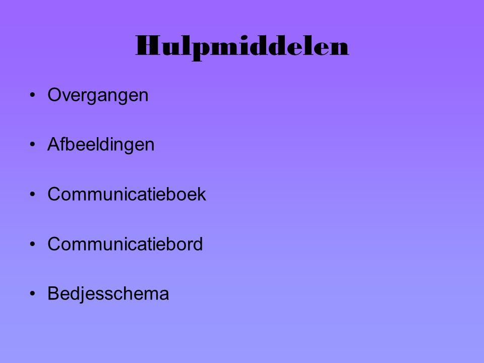 Hulpmiddelen Overgangen Afbeeldingen Communicatieboek Communicatiebord Bedjesschema