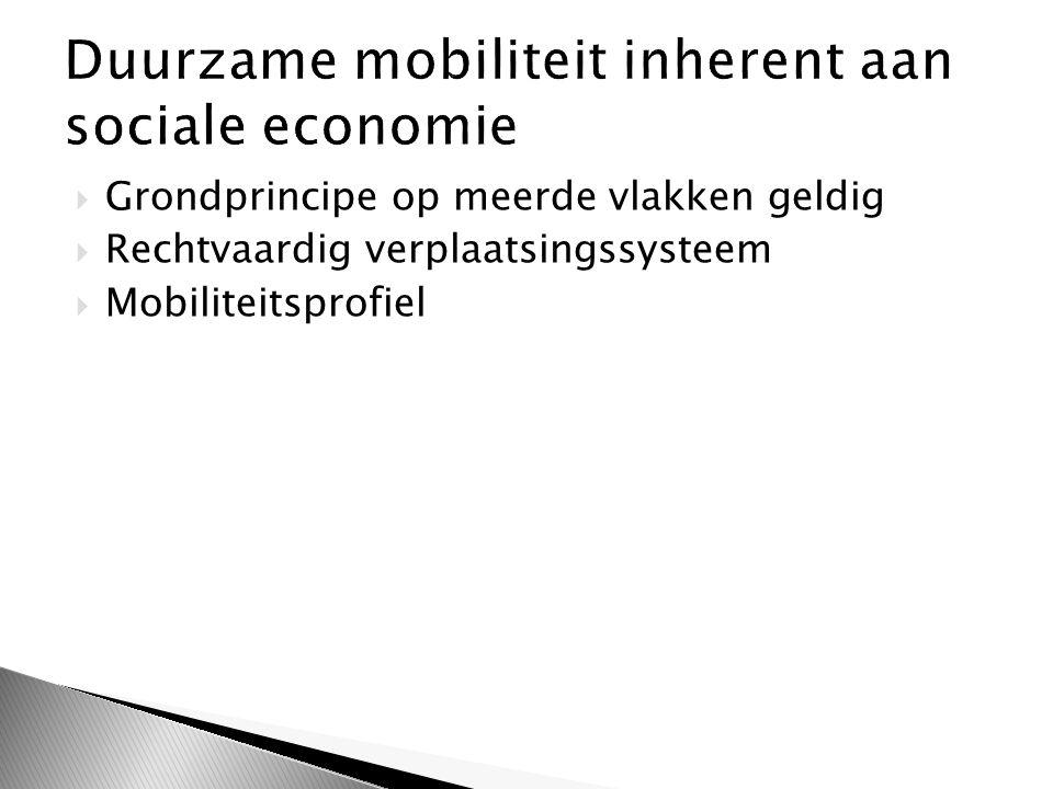  Grondprincipe op meerde vlakken geldig  Rechtvaardig verplaatsingssysteem  Mobiliteitsprofiel
