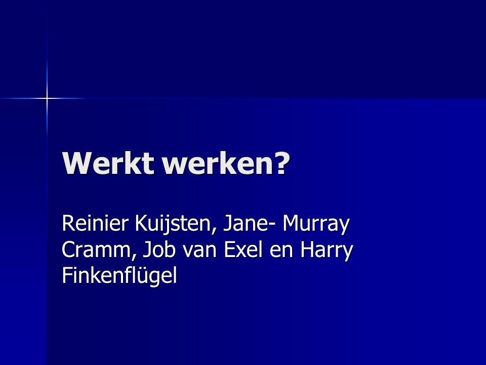 Werkt werken? Reinier Kuijsten, Jane- Murray Cramm, Job van Exel en Harry Finkenflügel