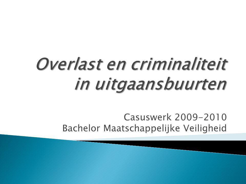 Casuswerk 2009-2010 Bachelor Maatschappelijke Veiligheid