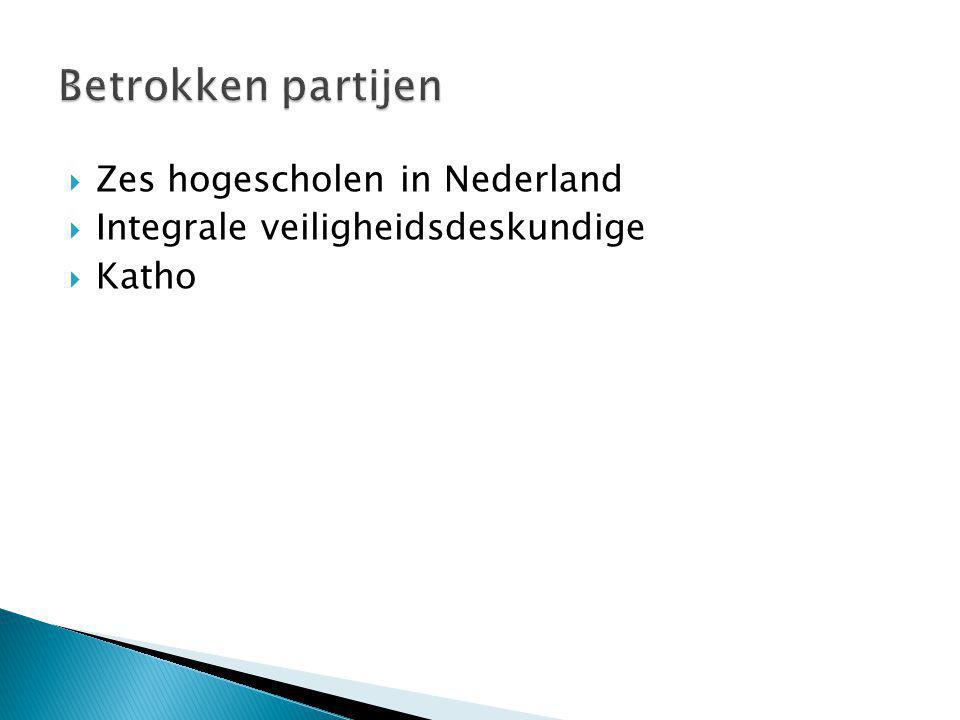  Zes hogescholen in Nederland  Integrale veiligheidsdeskundige  Katho