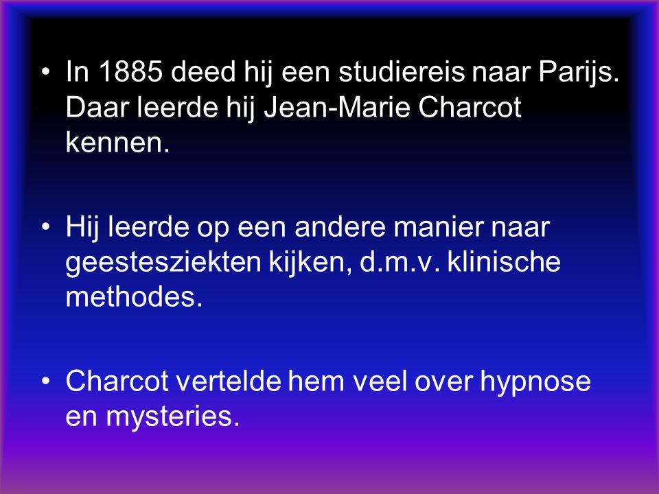 In 1885 deed hij een studiereis naar Parijs. Daar leerde hij Jean-Marie Charcot kennen.