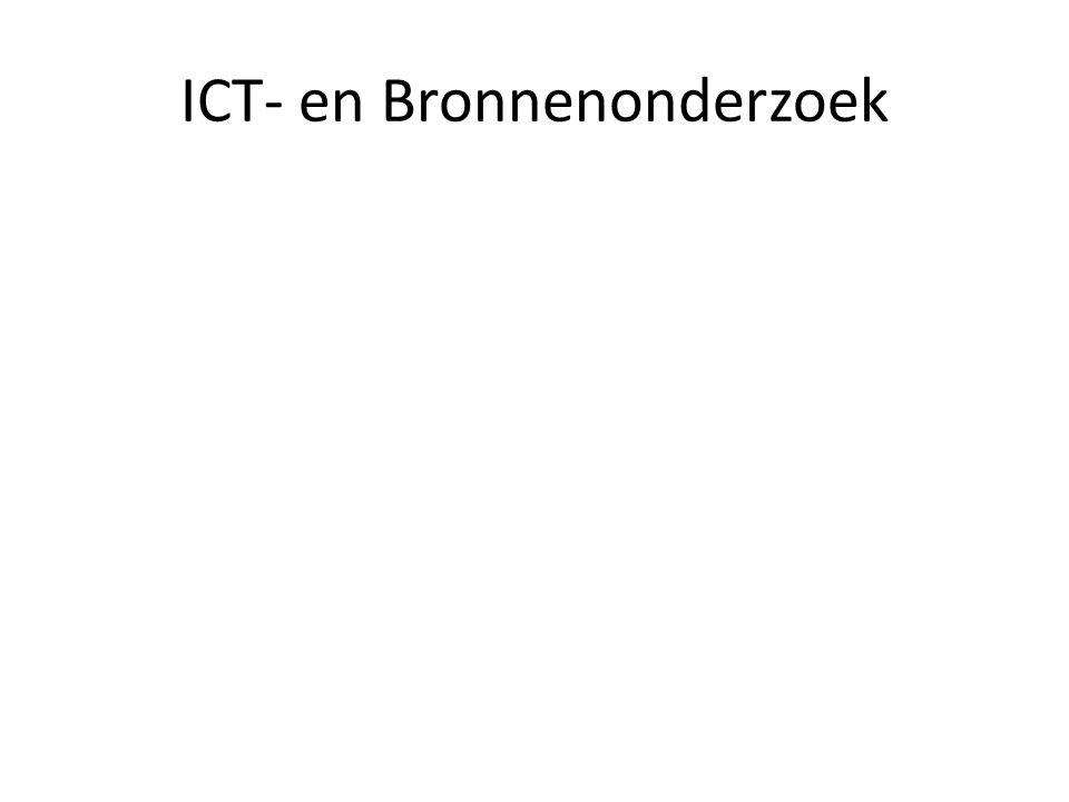 ICT- en Bronnenonderzoek