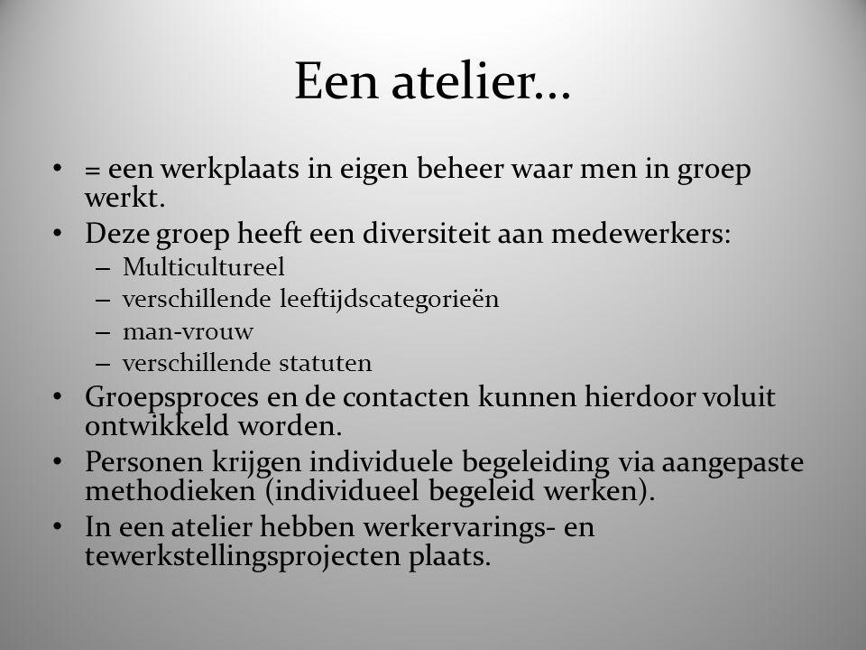 4 ateliers... 1) ETIKET = verzending