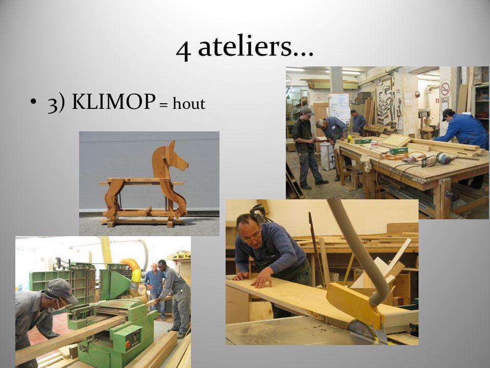 4 ateliers... 3) KLIMOP = hout