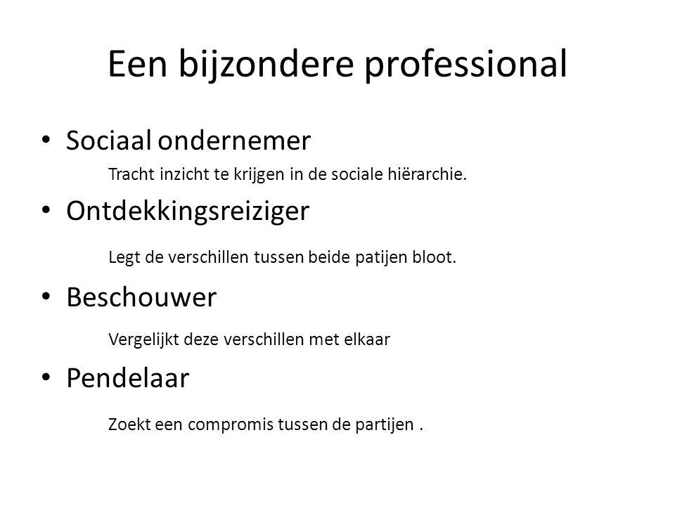 Een bijzondere professional Sociaal ondernemer Tracht inzicht te krijgen in de sociale hiërarchie.