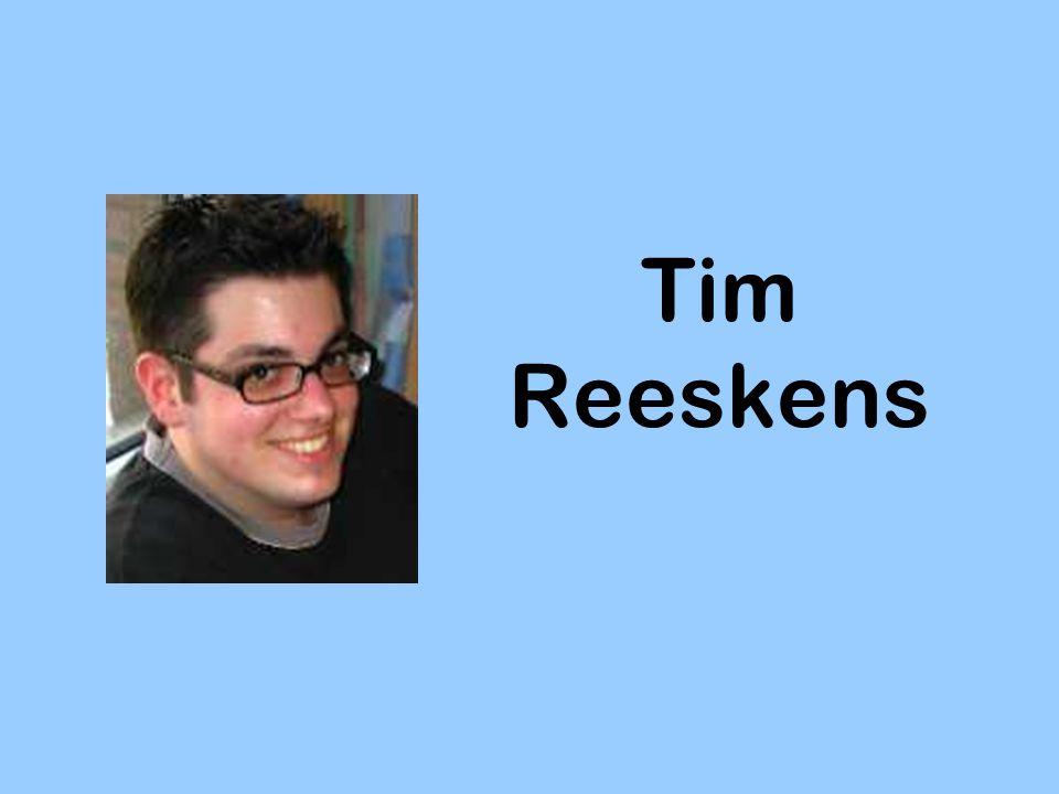 Inhoud Wie is Tim Reeskens.