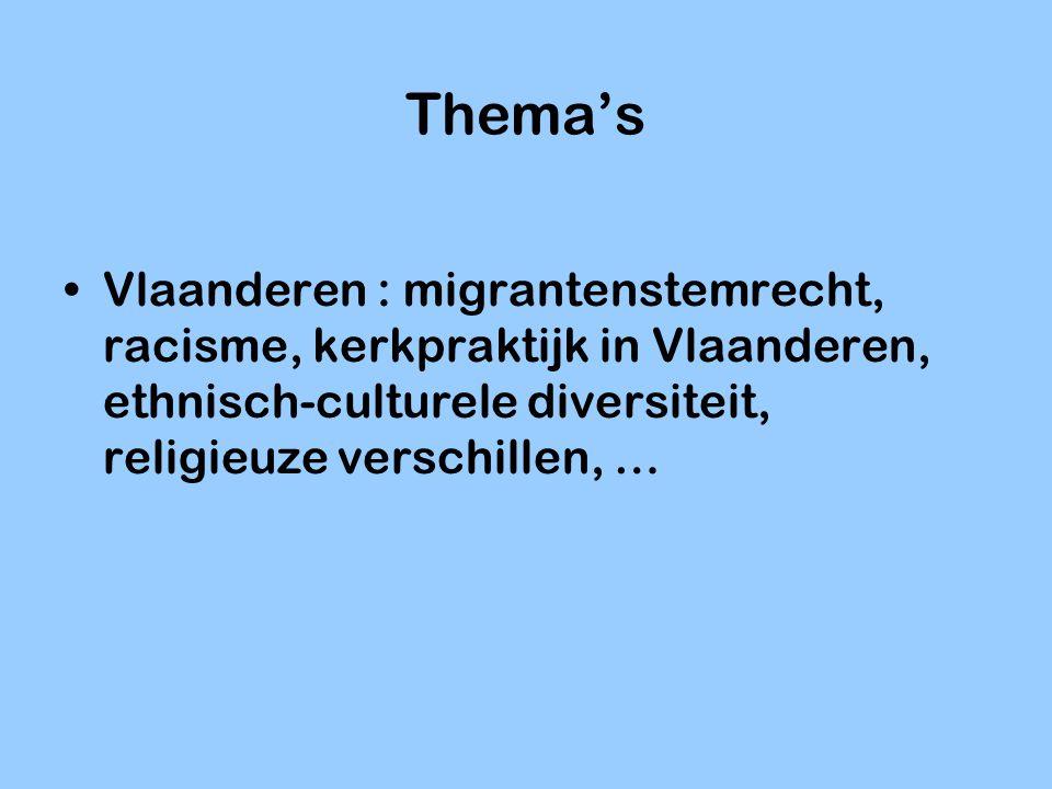Thema's Internationaal: Amerikaanse opinie over Irak, kiesgedrag in 27 landen, etnische diversiteit in Europa, migratie naar Europa, sociale cohesie indicatoren, …
