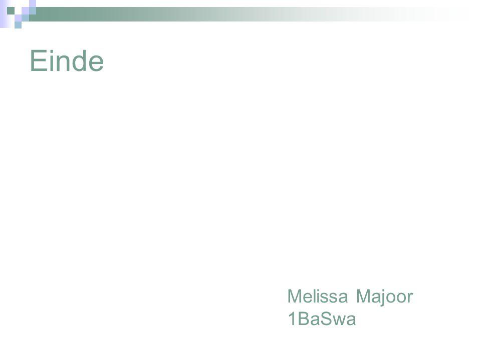 Einde Melissa Majoor 1BaSwa