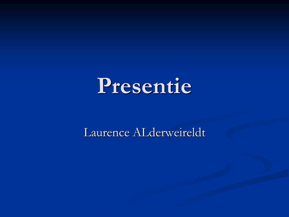 Presentie Laurence ALderweireldt