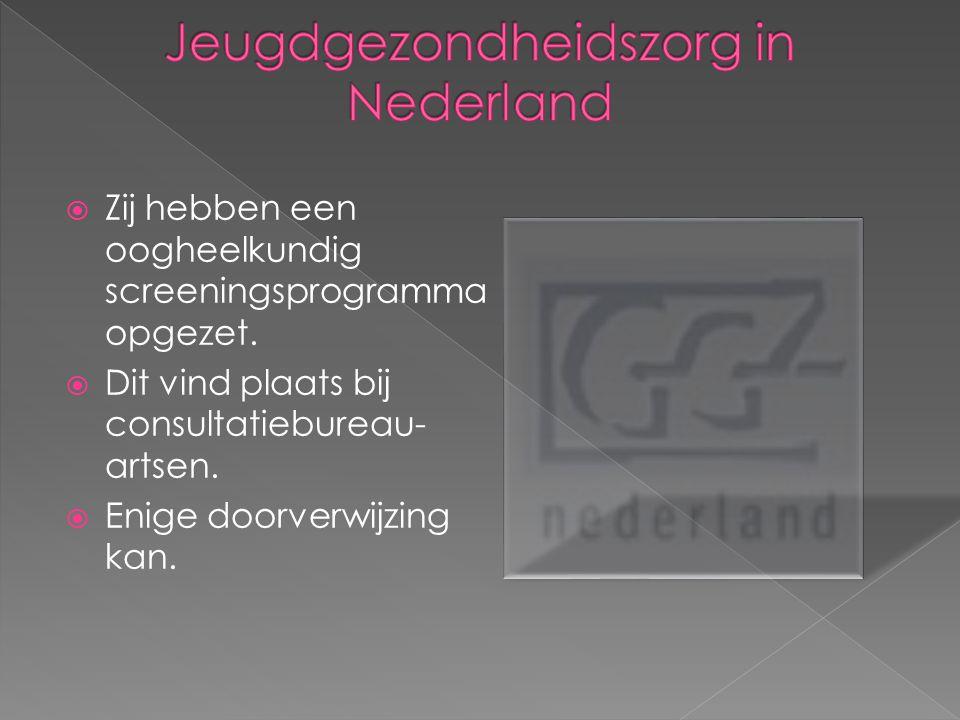  Een diagnostisch onderzoek  Afdeling Ophthalmogenetica  Onderzoek  Advies  Nederland