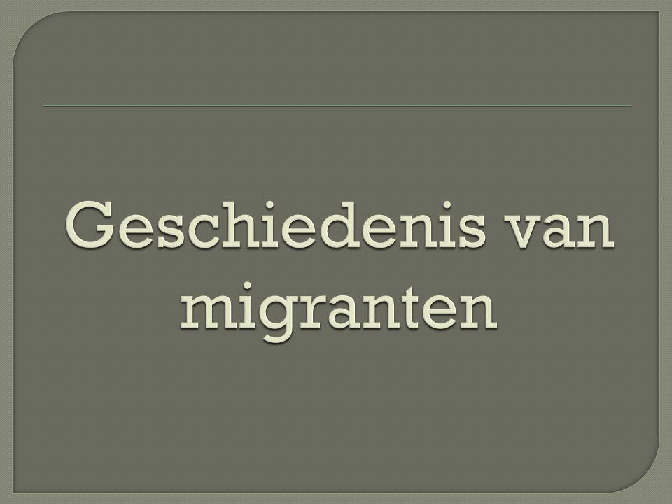  De hoofdreden dat mensen migreren = het opzoeken van geluk  3 factoren die de migratie beïnvloedt heeft doorheen de geschiedenis: 1.