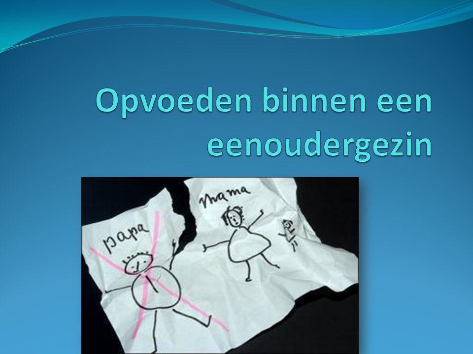 Inhoud Een eenoudergezin Wensen en dromen van ouders voor hun kinderen Alleen opvoeden Alleen opgroeien Leven in een eenoudergezin Een eenouder- of een tweeoudergezin.