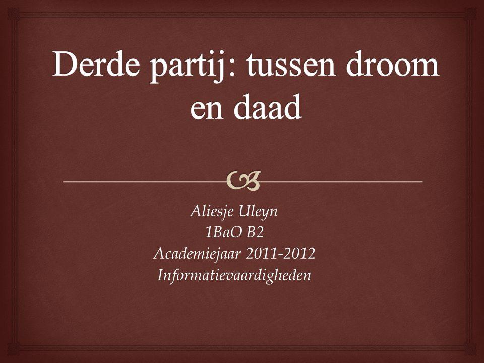 Aliesje Uleyn 1BaO B2 Academiejaar 2011-2012 Informatievaardigheden