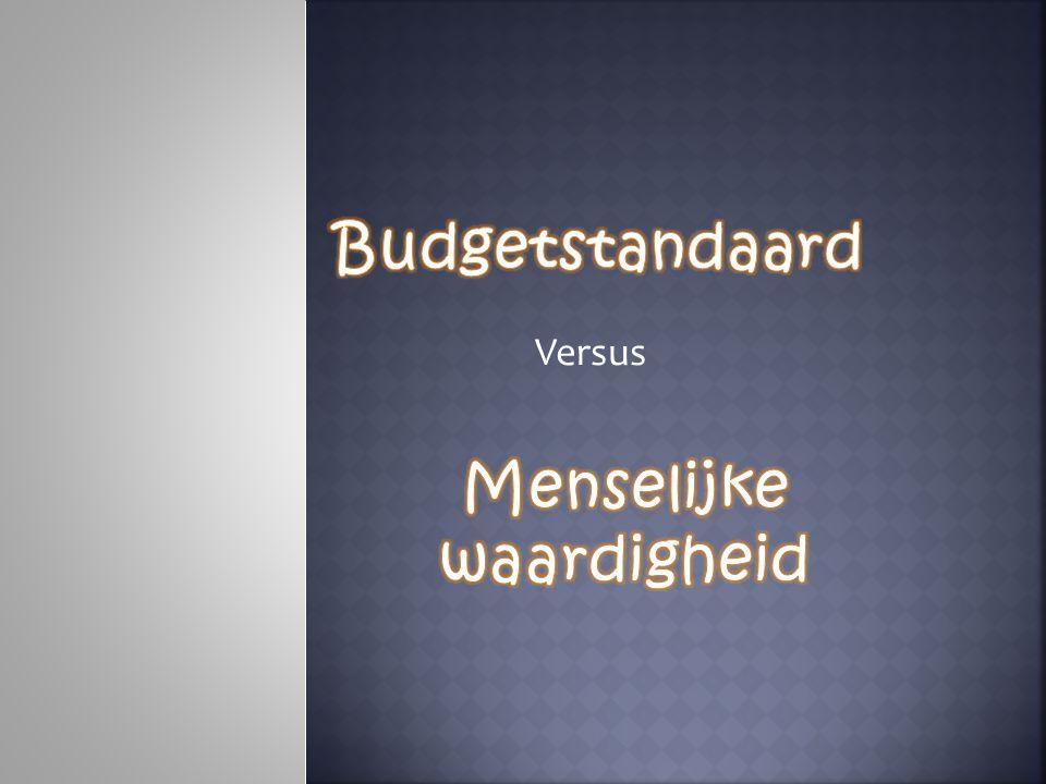  Naam: Budgetstandaard legt de lat voor menselijke waardigheid  Gaat over armoedebestrijding  De leeflonen veel te weinig zijn om een menswaardig bestaan te leiden.