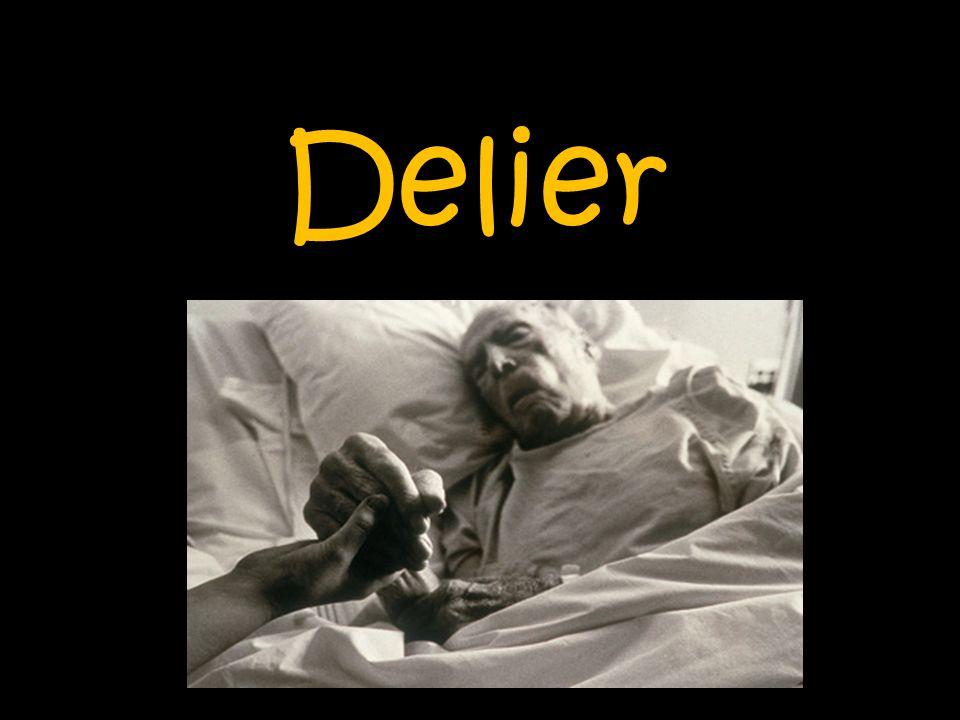 Inhoud 1.Wat is een delier. 2. Verschijningsvormen van delier 3.