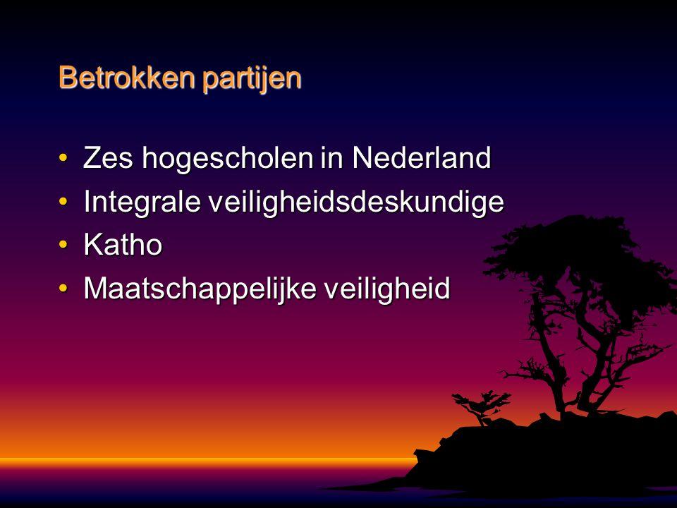 Zes hogescholen in NederlandZes hogescholen in Nederland Integrale veiligheidsdeskundigeIntegrale veiligheidsdeskundige KathoKatho Maatschappelijke ve