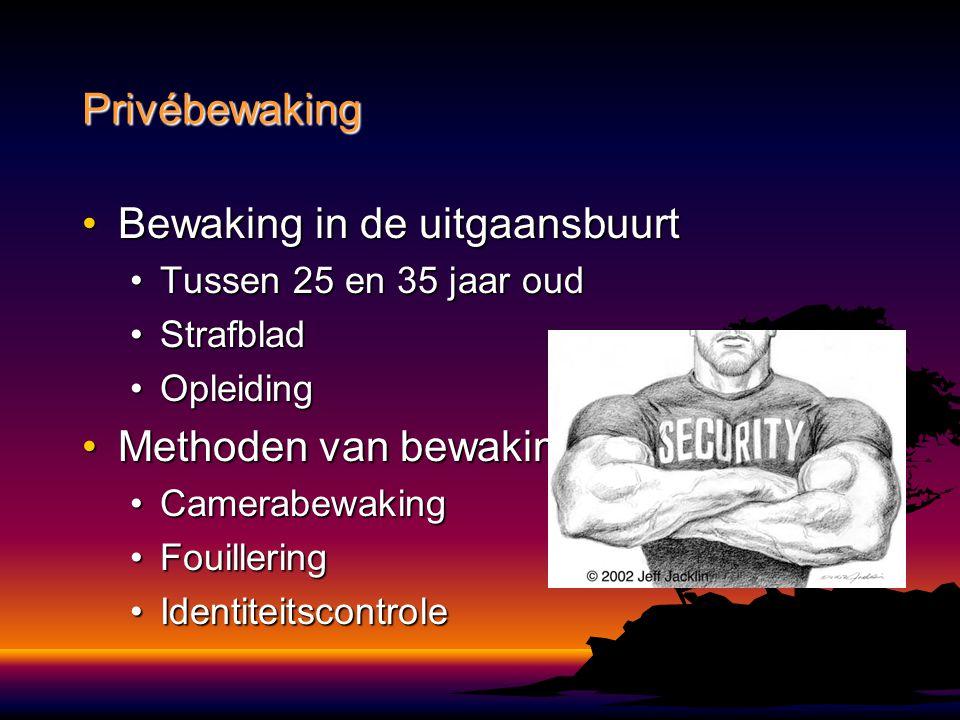 Bewaking in de uitgaansbuurtBewaking in de uitgaansbuurt Tussen 25 en 35 jaar oudTussen 25 en 35 jaar oud StrafbladStrafblad OpleidingOpleiding Method