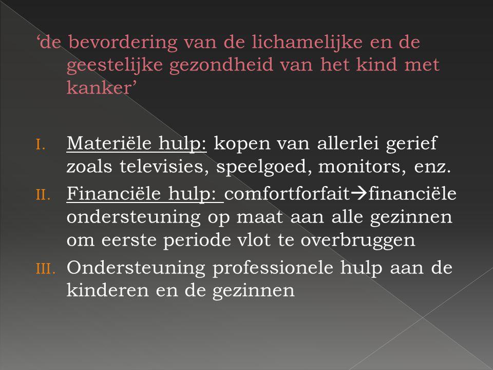 'de verbetering van de sociale situatie van betrokken kind en gezin' KKoester: dit project komt tegemoet aan één van de belangrijkste behoeften van een kind nl.