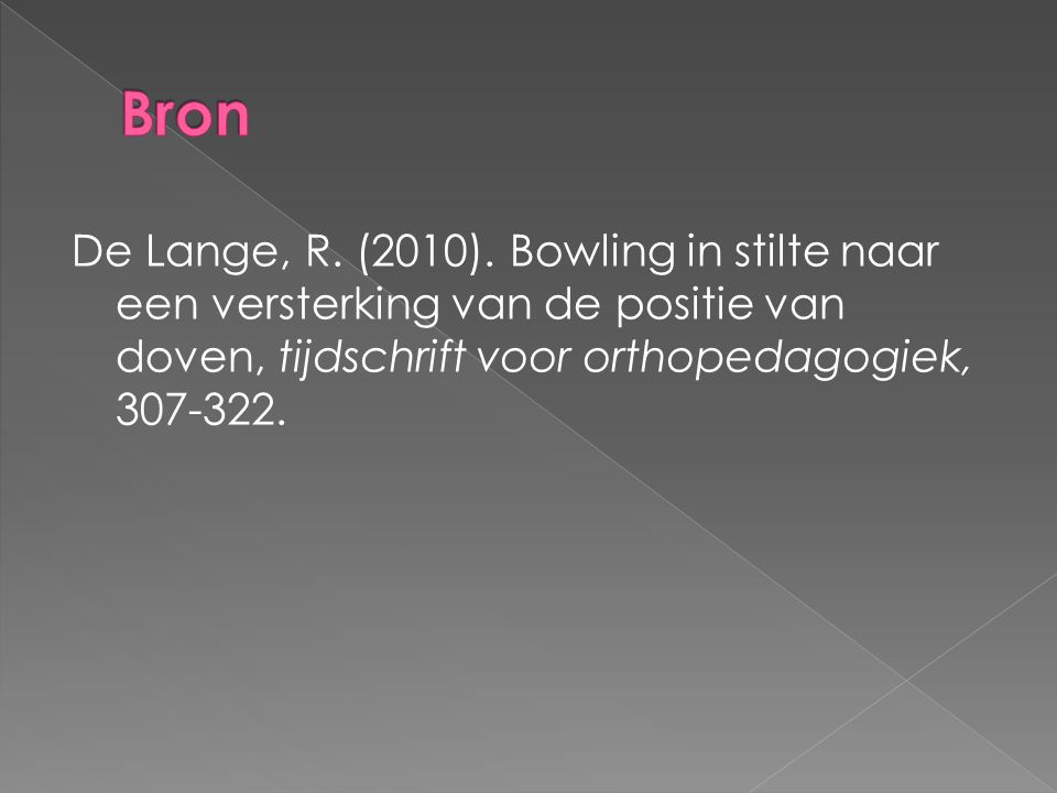 De Lange, R.(2010).