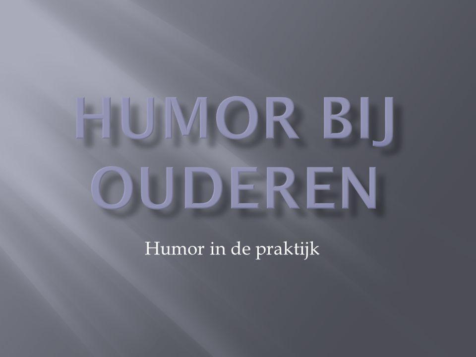 'Wat betreft de gezondheid en evenwicht, ligt de lach in dezelfde lijn.