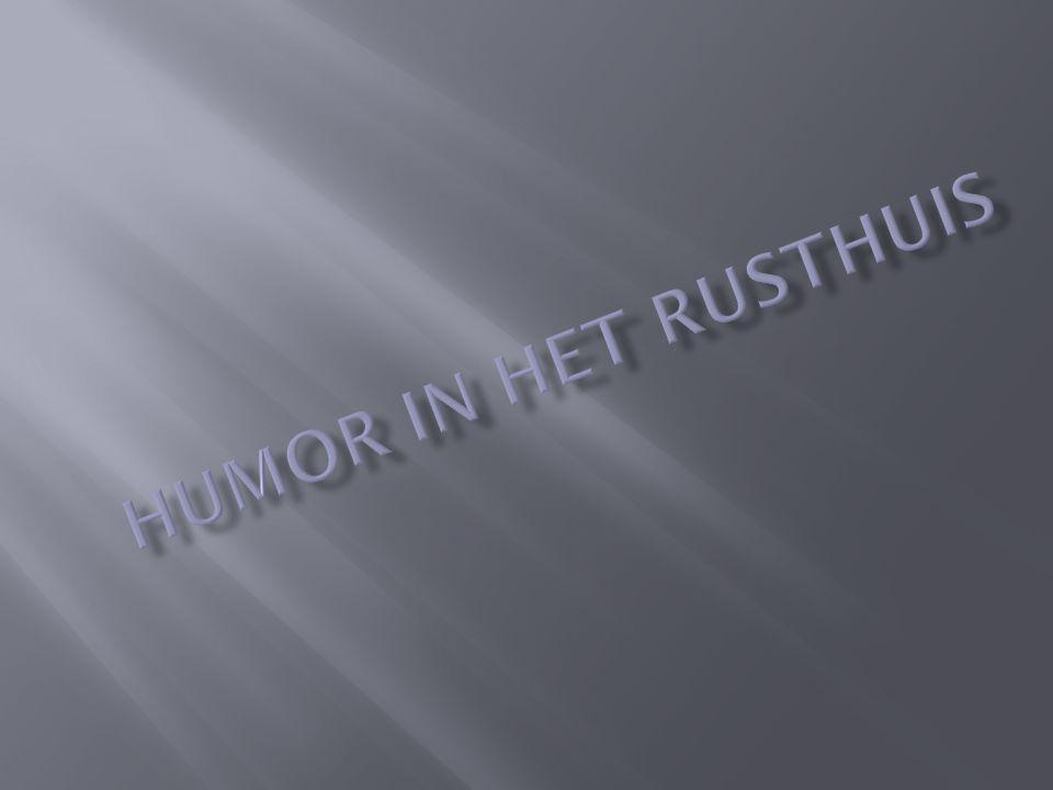 Rusthuizen zijn een schrikbeeld voor de ouderen, een beeld van verveling, eenzaamheid,… Om de diepste noden van de mens te vervullen worden in rusthuizen animaties georganiseerd.
