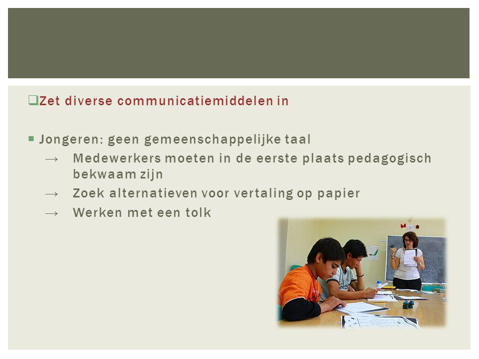  Hulpverlening aan vluchtelingen is niet per definitie 'anders'  Aandacht voor interculturele communicatie  Eerste focus op de gelijkenissen vandaar uit werken aan wat anders is