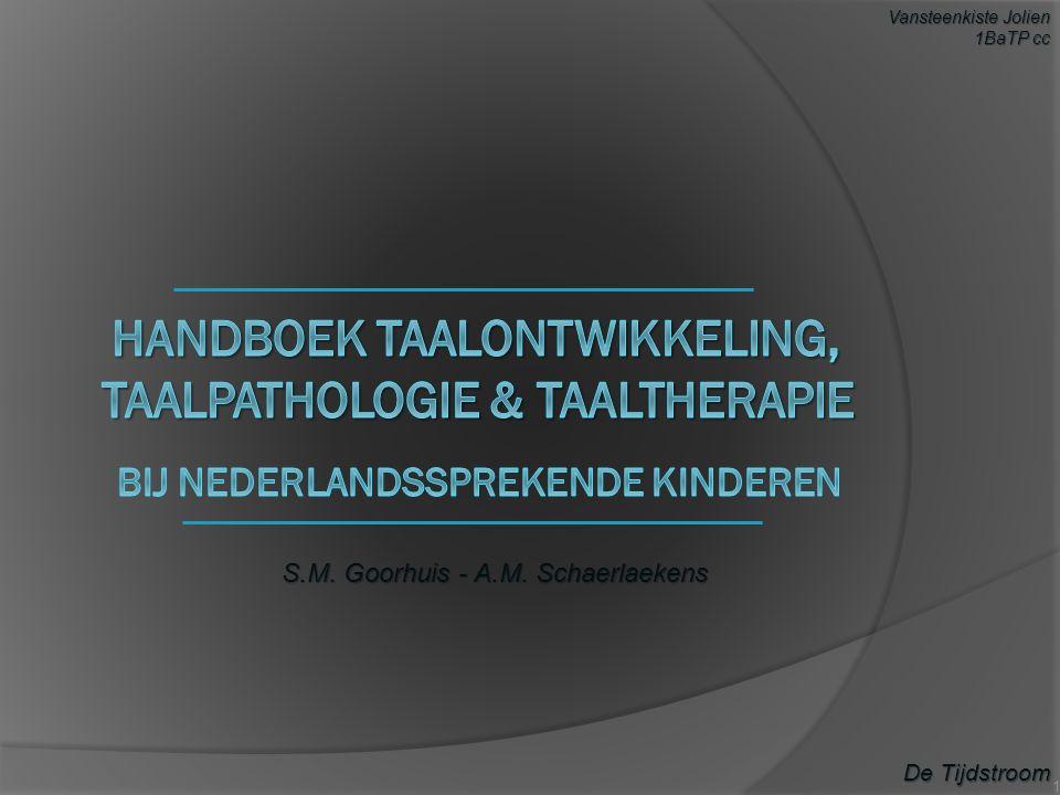 S.M. Goorhuis - A.M. Schaerlaekens De Tijdstroom Vansteenkiste Jolien 1BaTP cc 1