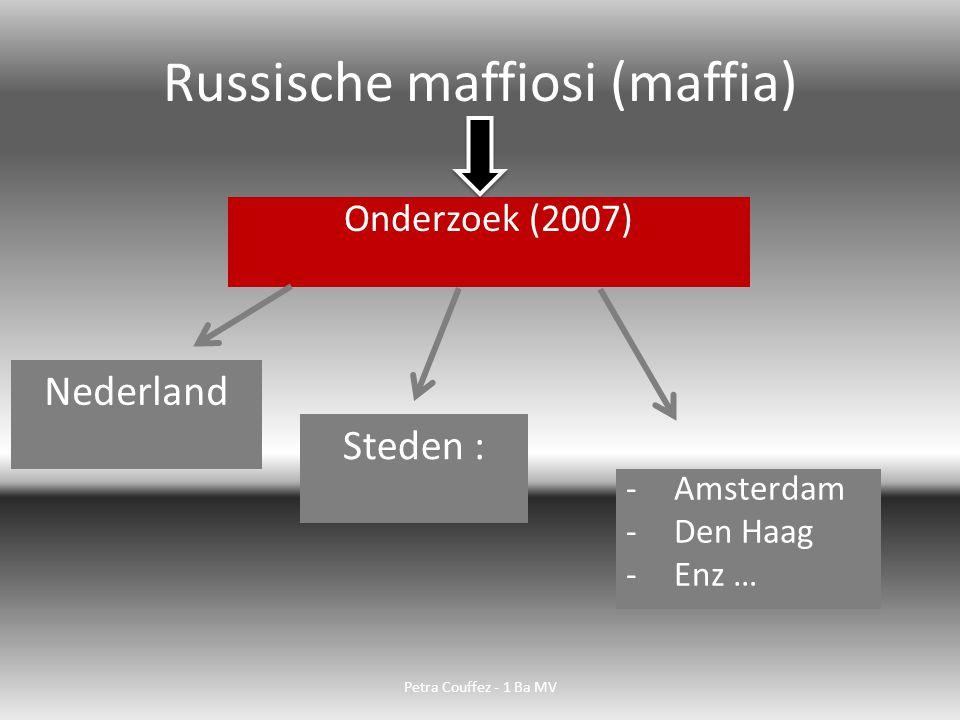Onderzoek naar : Maffia-bendes Afpersers Waar actief.