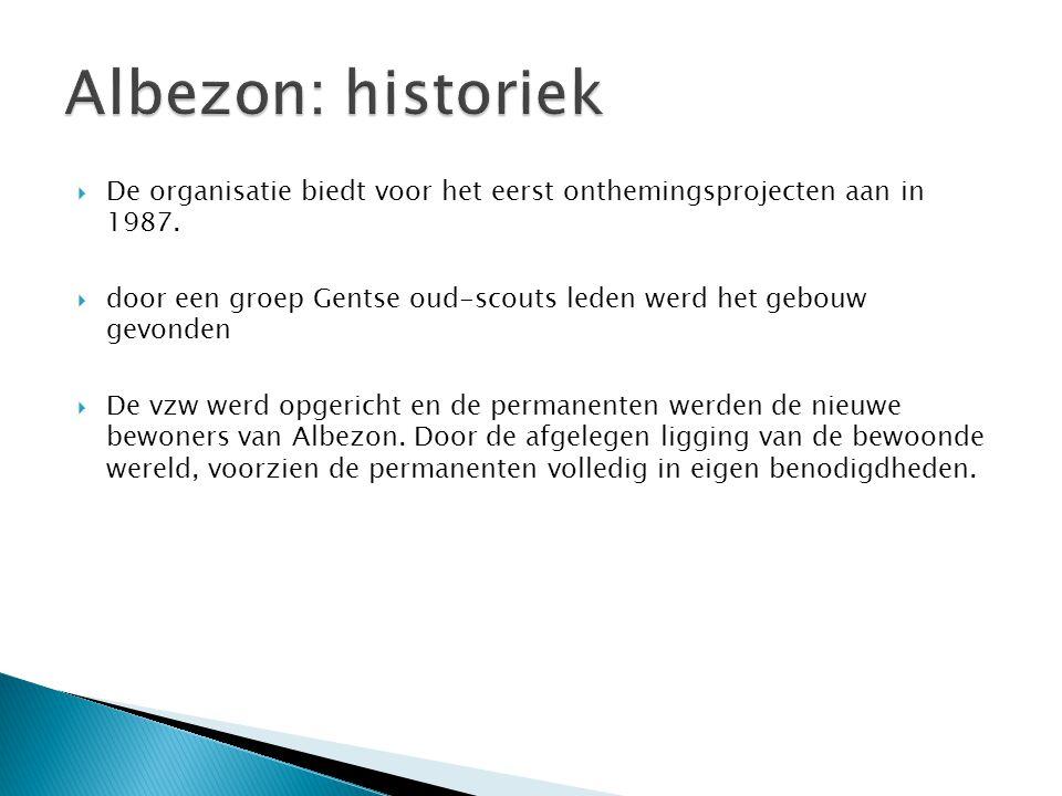  De organisatie biedt voor het eerst onthemingsprojecten aan in 1987.  door een groep Gentse oud-scouts leden werd het gebouw gevonden  De vzw werd