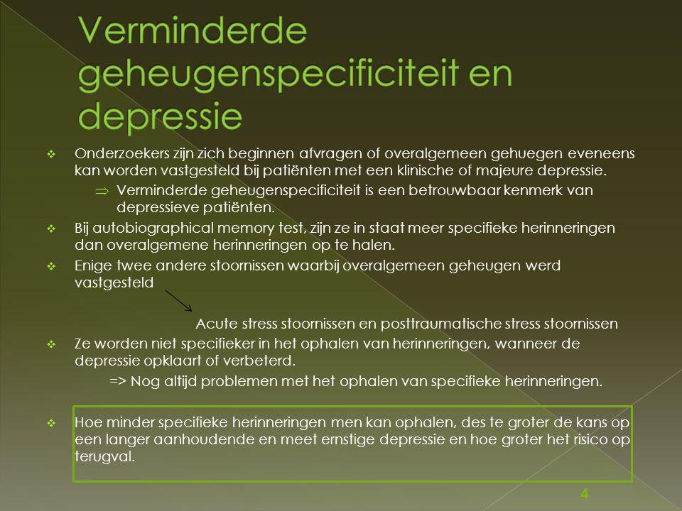  Onderzoekers zijn zich beginnen afvragen of overalgemeen gehuegen eveneens kan worden vastgesteld bij patiënten met een klinische of majeure depress