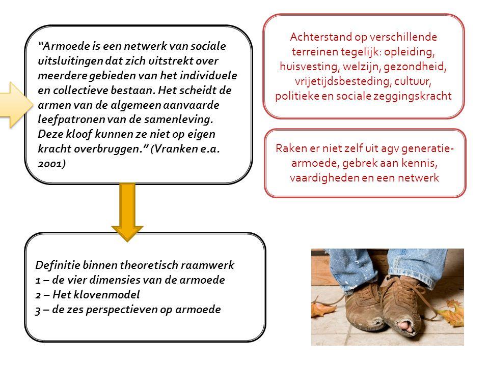 """""""Armoede is een netwerk van sociale uitsluitingen dat zich uitstrekt over meerdere gebieden van het individuele en collectieve bestaan. Het scheidt de"""