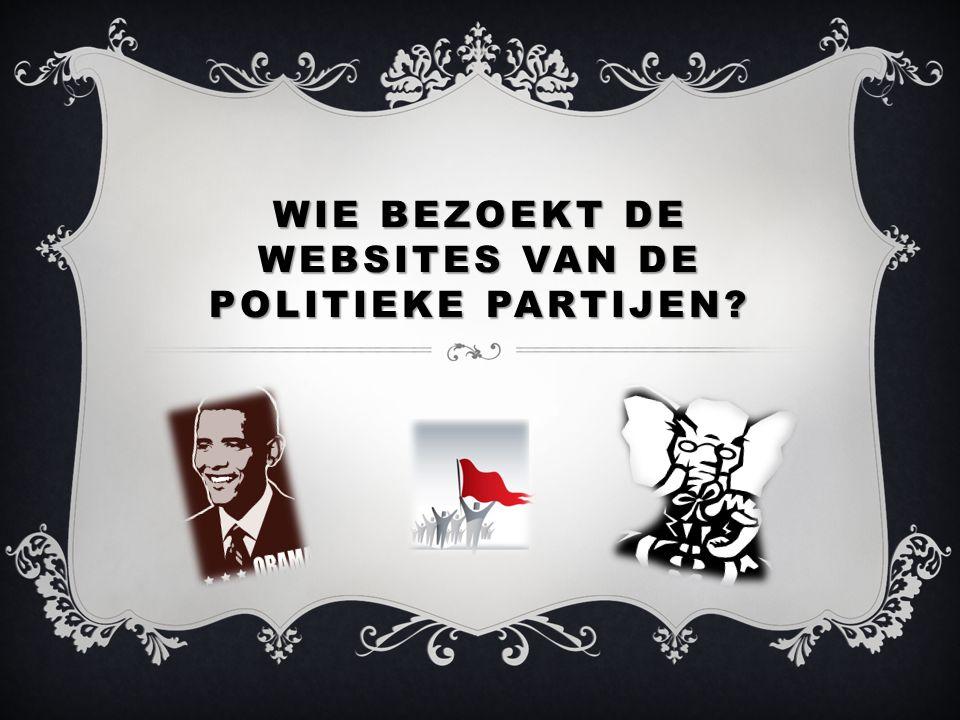 WIE BEZOEKT DE WEBSITES VAN DE POLITIEKE PARTIJEN