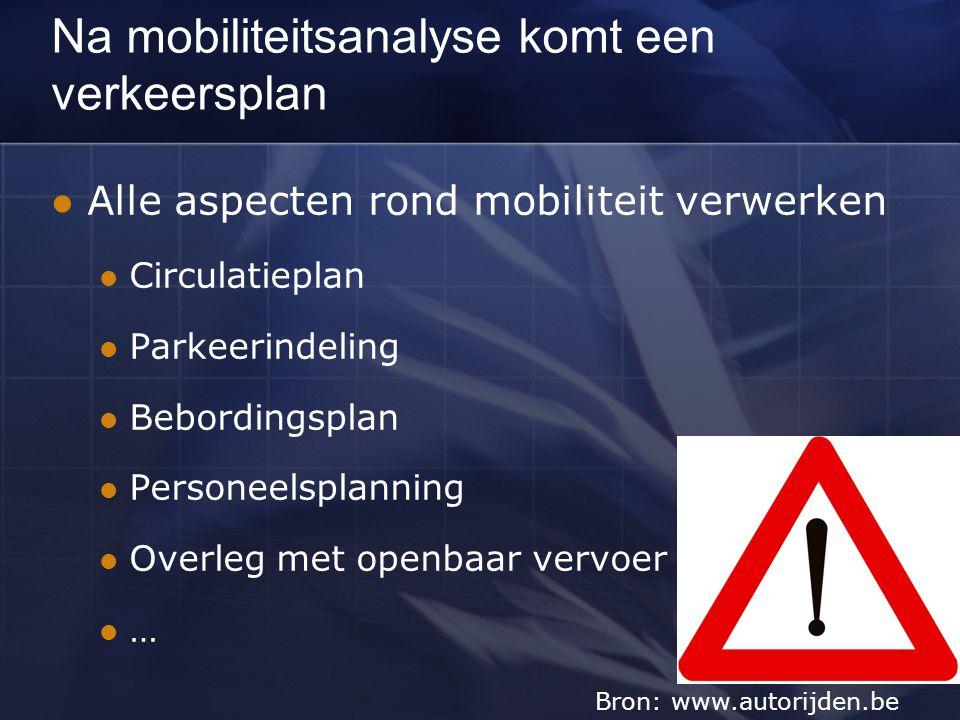 Tijdens het evenement moet actief gewerkt worden Mensen: Parkeerstewards Gediplomeerde verkeersregelaars Hulpmiddelen: Pendeldiensten Transportmiddelen Bewegwijzering … Bron: www.max-mobiel.be