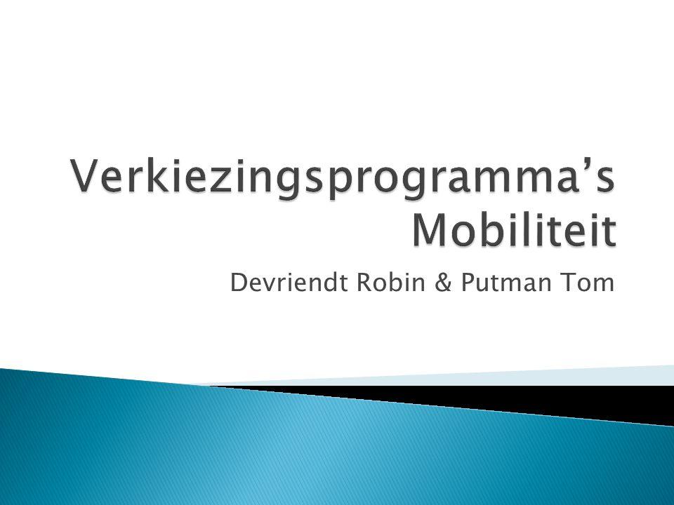  Verschillende Vlaamse politieke partijen  Campagne rond mobiliteit