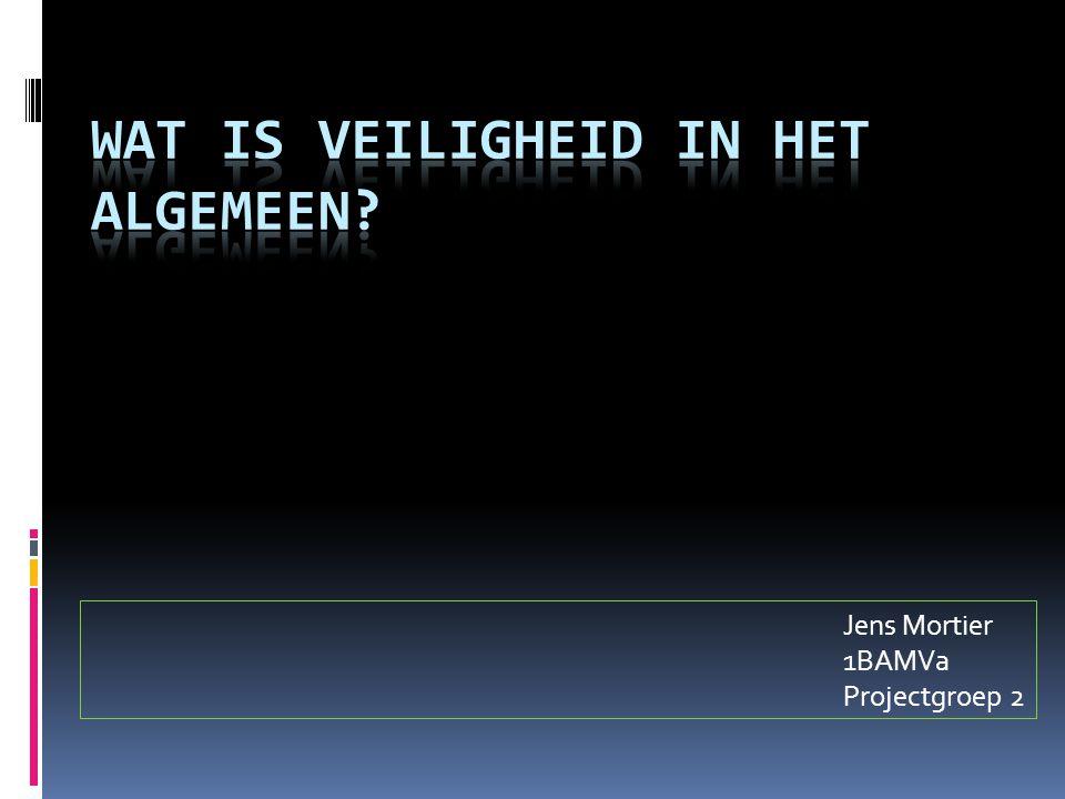 Jens Mortier 1BAMVa Projectgroep 2