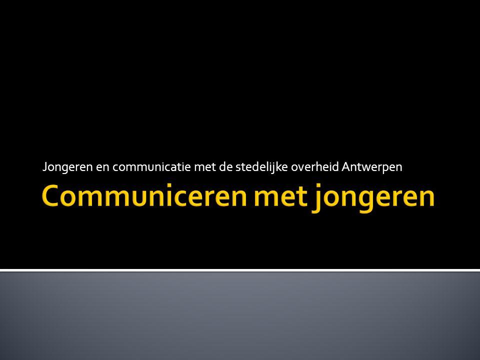 Jongeren en communicatie met de stedelijke overheid Antwerpen