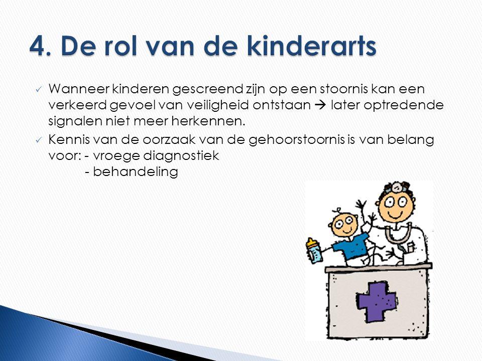 Wanneer kinderen gescreend zijn op een stoornis kan een verkeerd gevoel van veiligheid ontstaan  later optredende signalen niet meer herkennen.