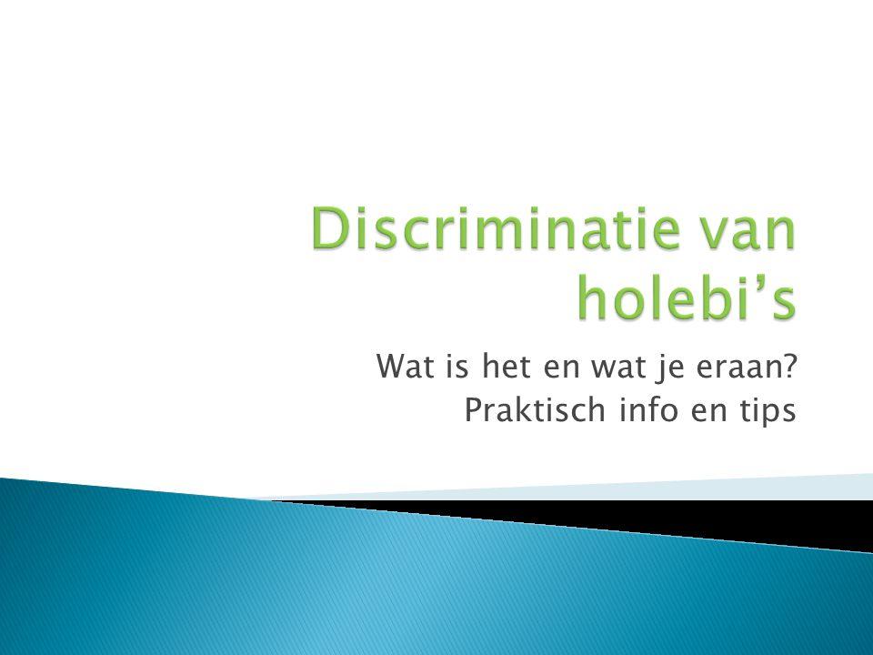  Wat is antidiscriminatiewet.