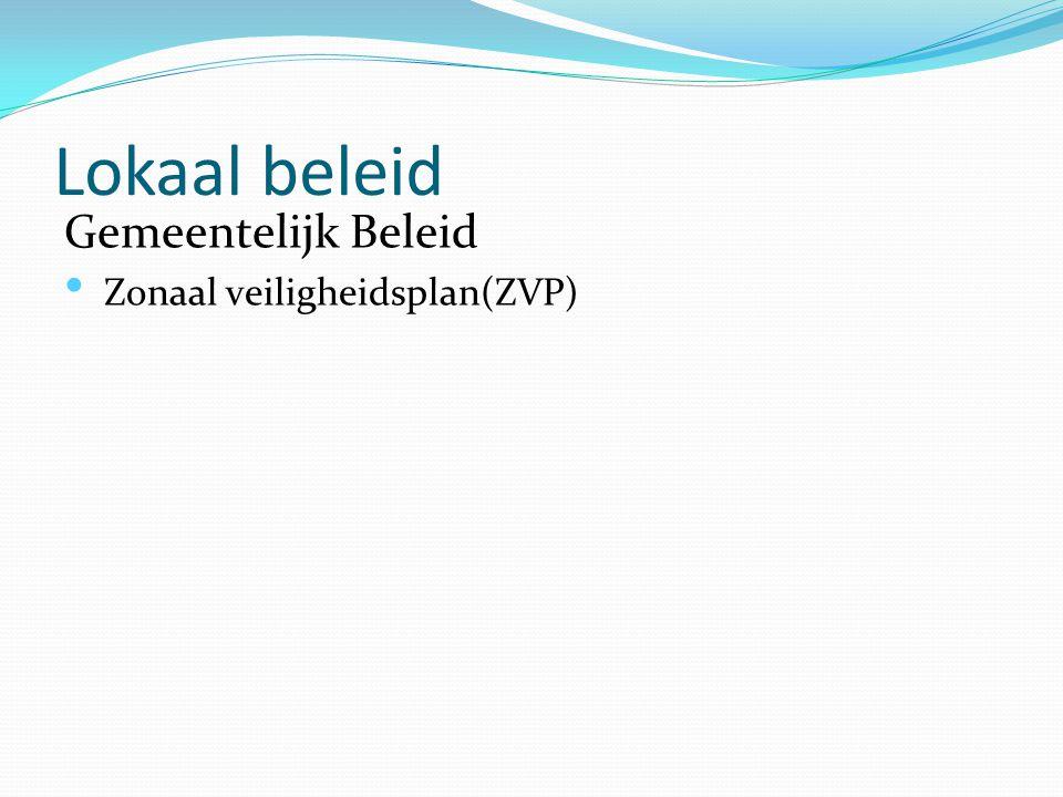 Lokaal beleid Gemeentelijk Beleid Zonaal veiligheidsplan(ZVP)