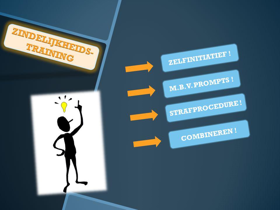 ZELFINITIATIEF ! M.B.V. PROMPTS ! STRAFPROCEDURE ! COMBINEREN !