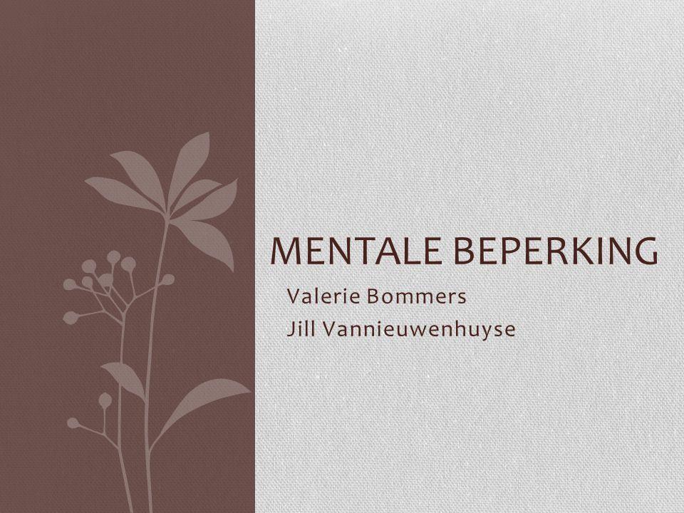 Betekenis Mentale retardatie betekent letterlijk 'geestelijke achterstand' Abnormale ontwikkeling Tekort aan cognitief geheugen Synoniemen: Zwakzinnigheid Intellectuele stoornis Geestelijke/verstandelijke beperking Mentale handicap