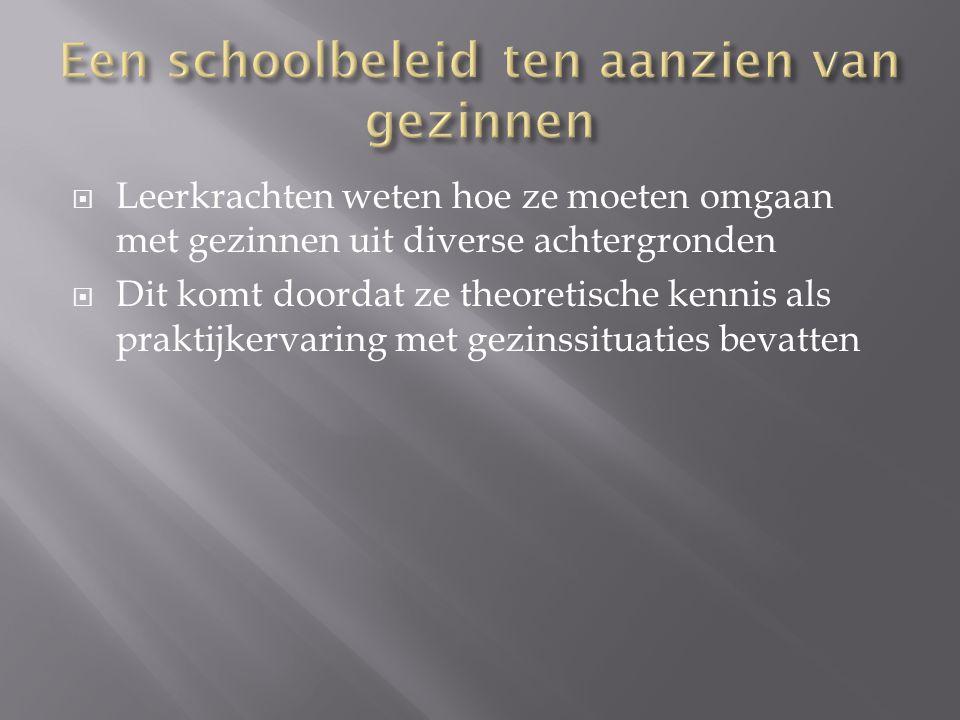  Artikel: kinderen uit niet-traditionele gezinnen in het onderwijs: ondersteuning door ouders en school H.Colpin ; J.P.Verhaeghe, rondom gezin, jaargang 32, p.146-155