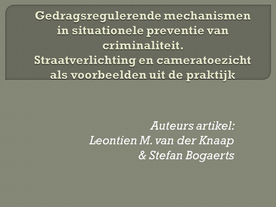 Auteurs artikel: Leontien M. van der Knaap & Stefan Bogaerts