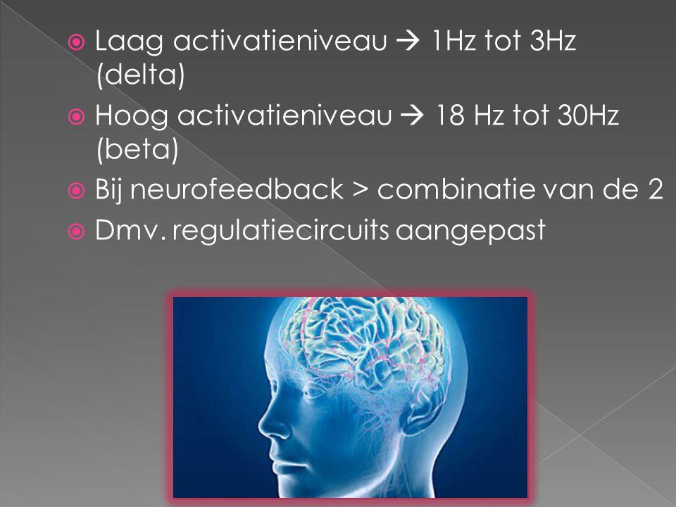  Neurofeedback = interventie waarbij regulatie hersenen worden getraind  Uitgangspunt: activiteit hersenen van kinderen met ontw.stoornissen niet optimaal gereguleerd  Dmv.