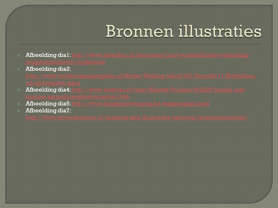  Afbeelding dia1: http://www.hsleiden.nl/lectoraten/licht-verstandelijke-beperking- jeugdcriminaliteit/onderzoekhttp://www.hsleiden.nl/lectoraten/lic