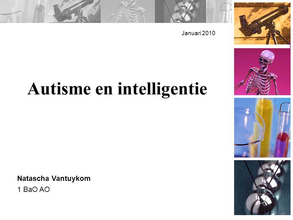 Overview Autisme en intelligentie Intelligentiequotiënten en hun waarde bij autisme Wat zegt een I.Q.