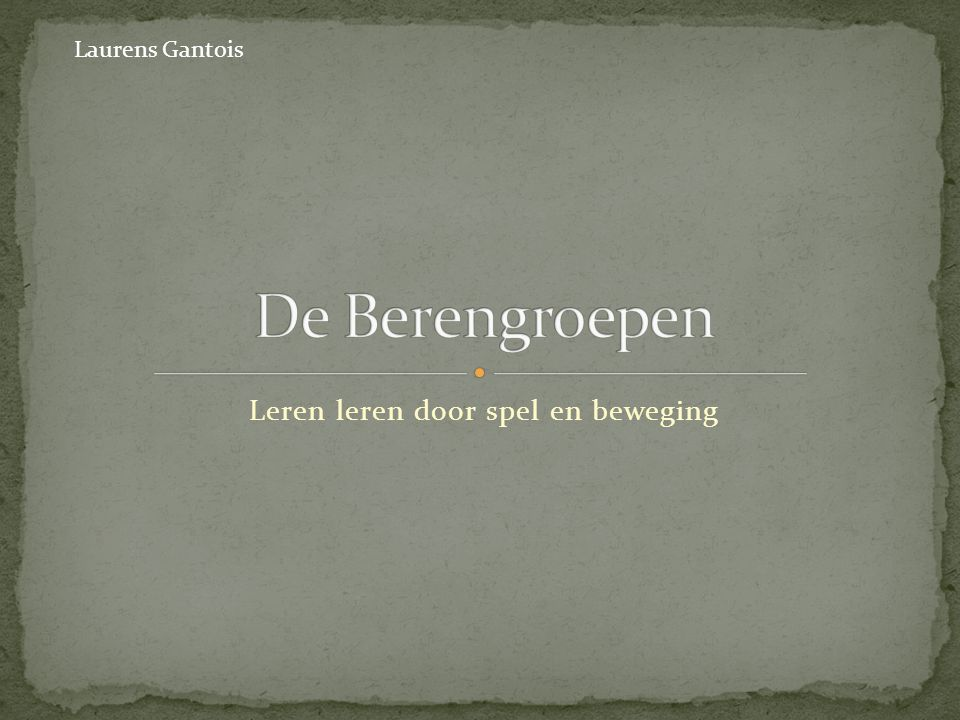 Loots, G., Verliefde, E., Boogemans, A., Dever, J., Vansteenkiste, V., & Lebbe, F., De berengroepen, vierde druk, acco, Leuven, 2008