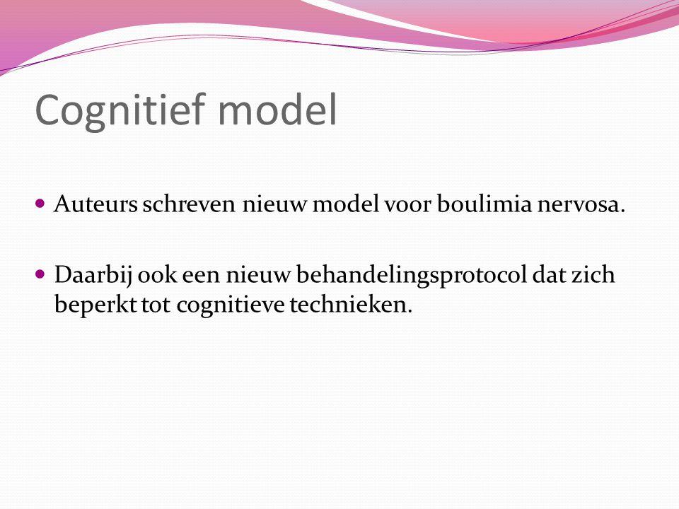 Therapie - effectstudies Boulimia nervosa: Er zijn geen studies naar de effecten van cognitieve therapie.