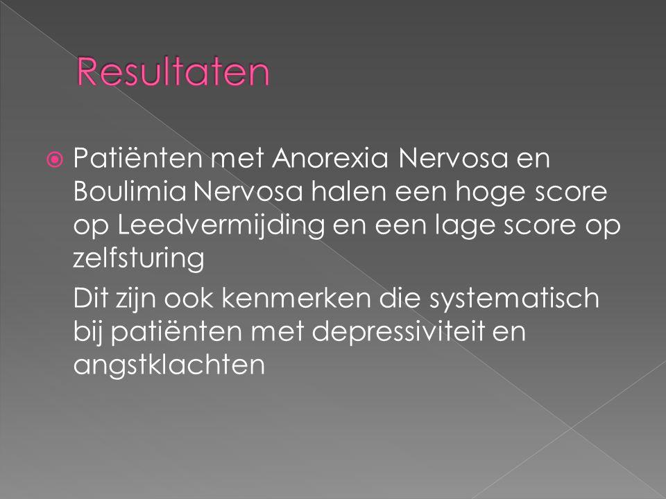"""146 patiënten met een ernstige eetstoornis Anorexia Nervosa, Boulimia Nervosa en andere 232 """"gezonde"""" vrouwen controlegroep 4x vragenlijst +4x intervi"""